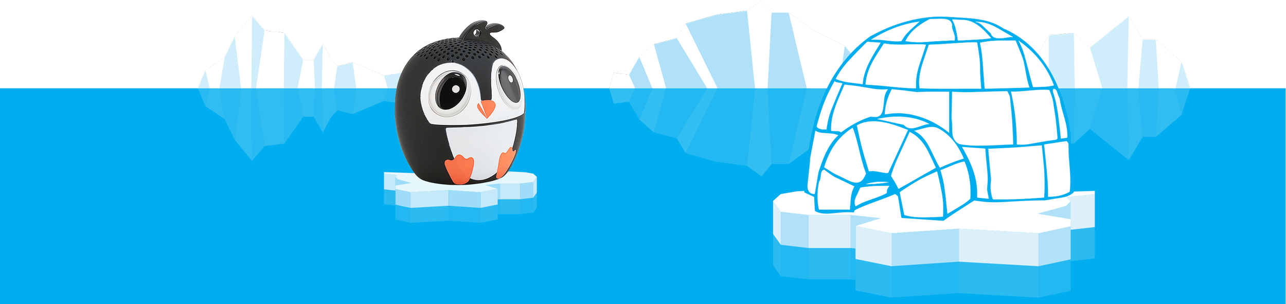 Ice Ice Baby in ice Penguin Animal Speaker