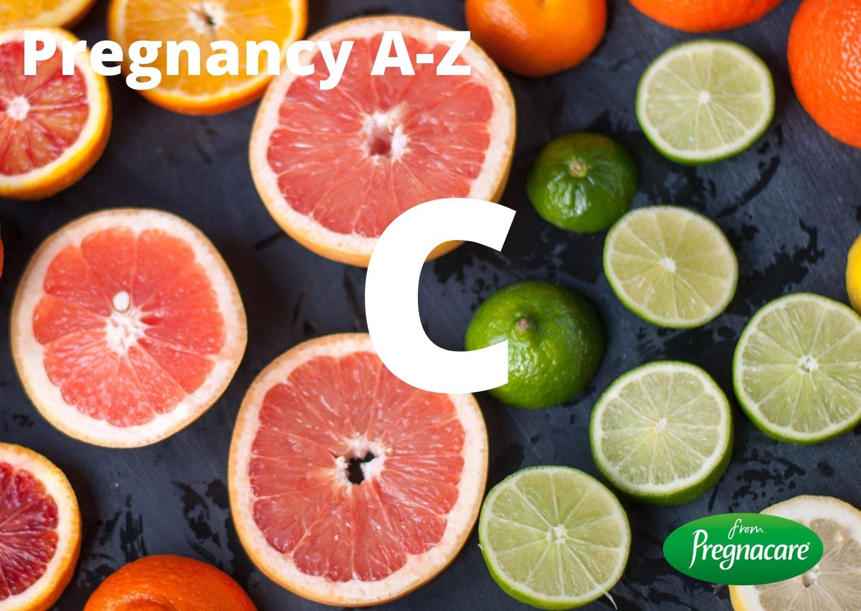 Letter C With Fruits Background