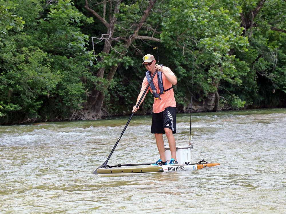 SUP paddling on the llano river