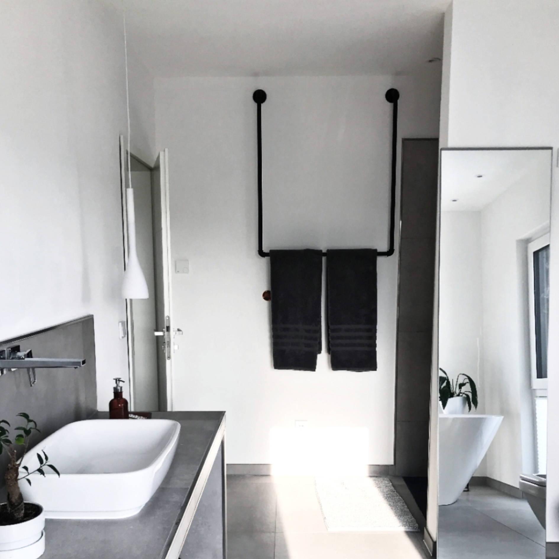 Bad Idee Badezimmer Handtuchhalter im Industrial design aus rohren kleiderstange handtuch