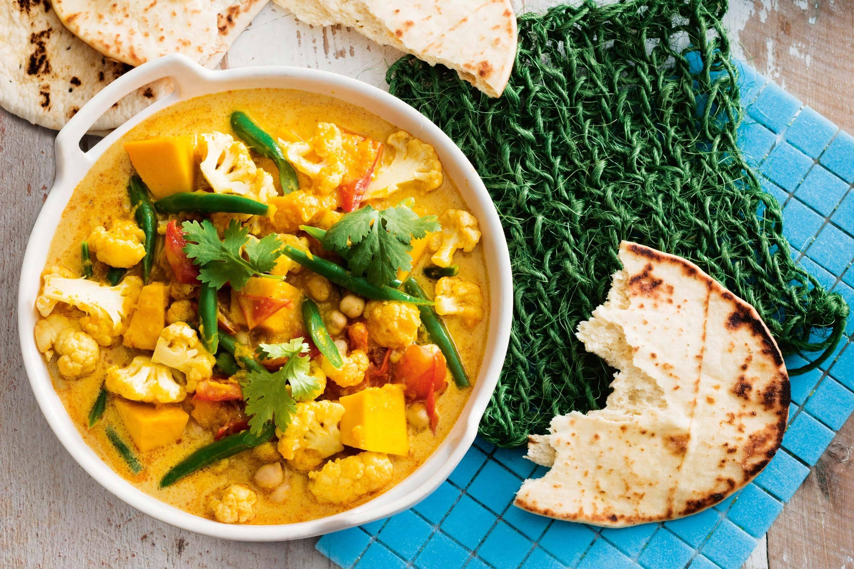 Vegetarian Curried Vegetable Chickpea Stew Recipe