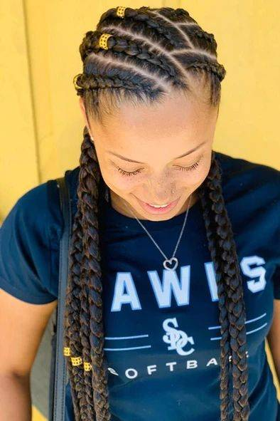 Five Cornrow braids