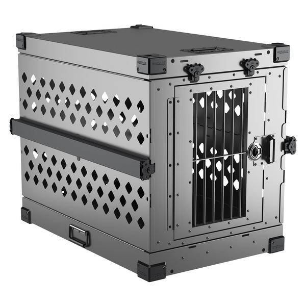 Impact dog crate gray collapsible crate size large
