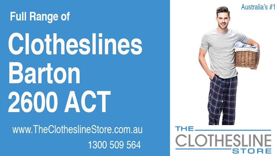 New Clotheslines in Barton ACT 2600