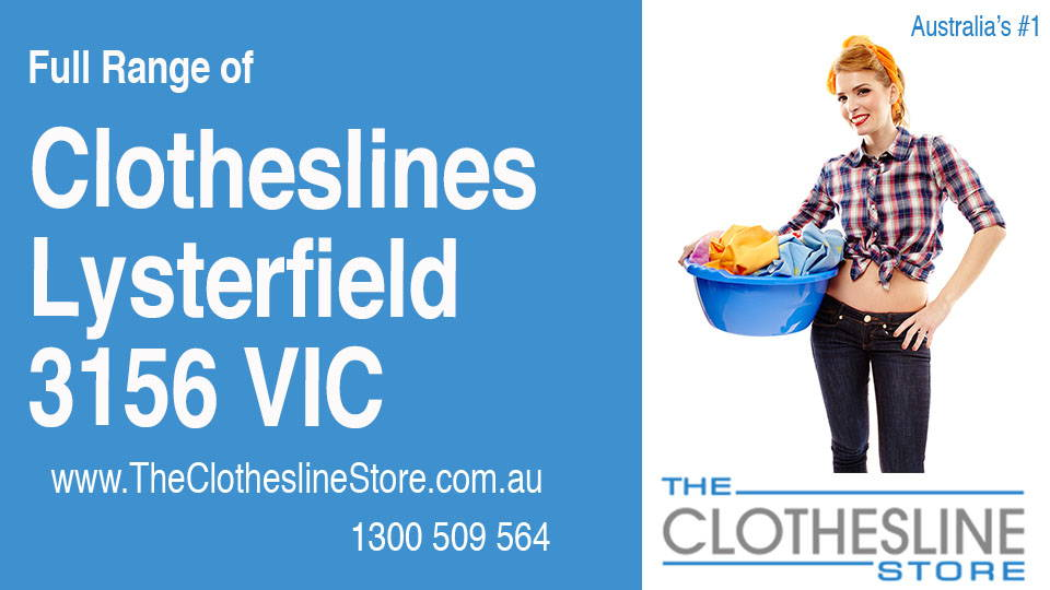 New Clotheslines in Lysterfield Victoria 3156