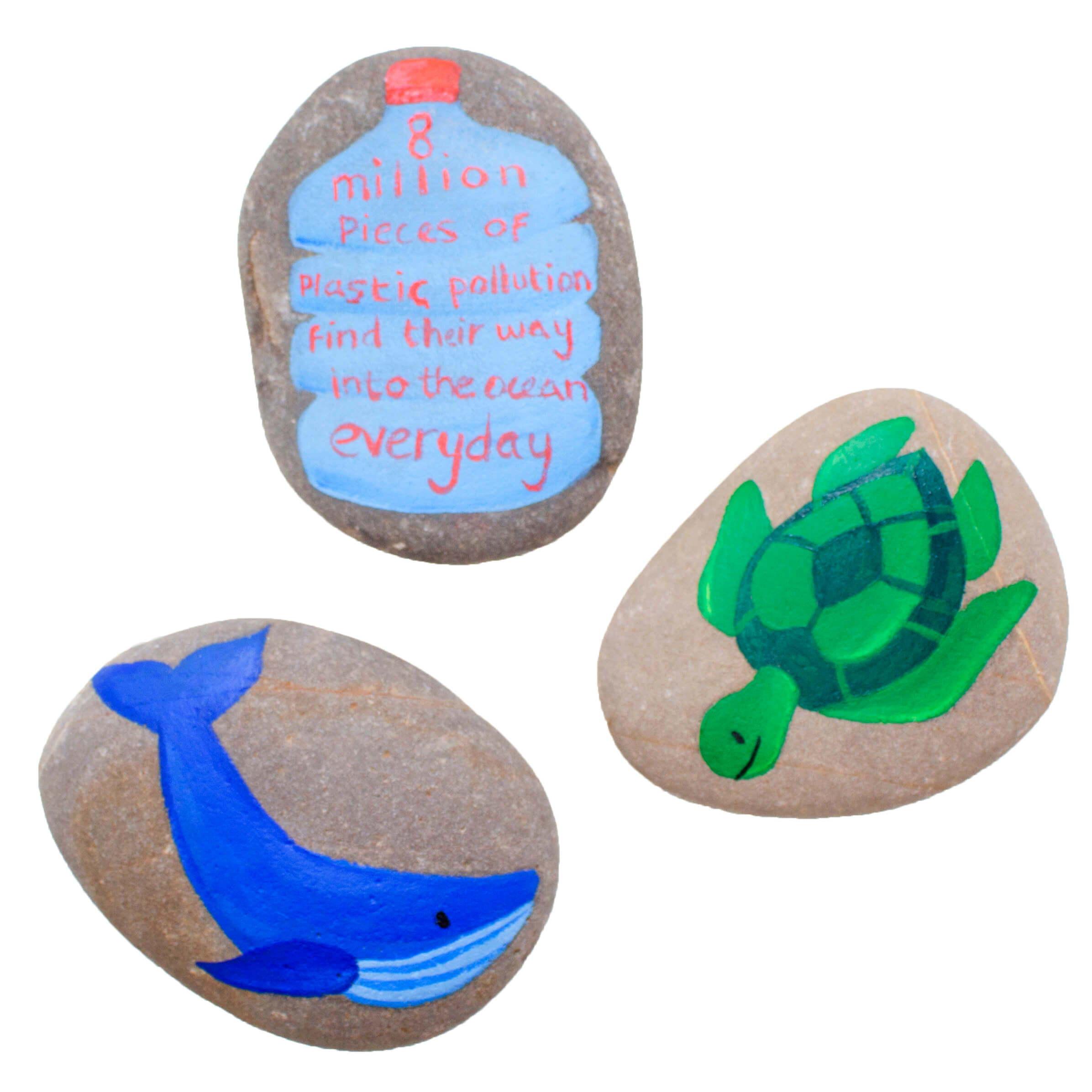 Ocean Inspired Pebble Painting