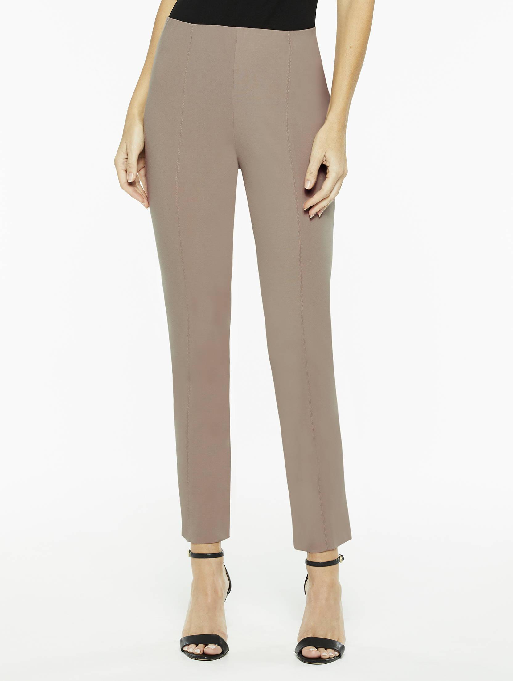 Seasonless Ponte Pull-On Pant in Macchiato Brown