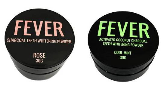 activated charcoal teeth whitening powder rose and mint