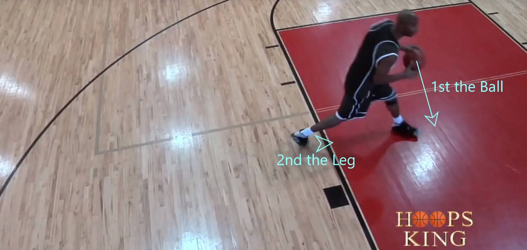 First the ball then the leg
