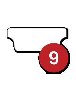 9 Tabs/Set