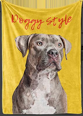 dog pop art on fleece blanket