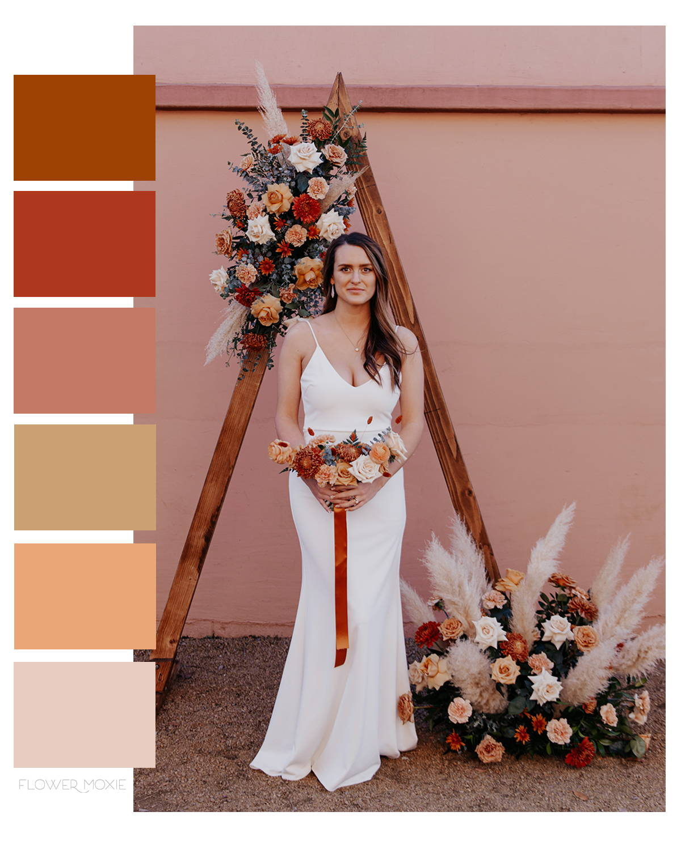 terracotta wedding flower packages