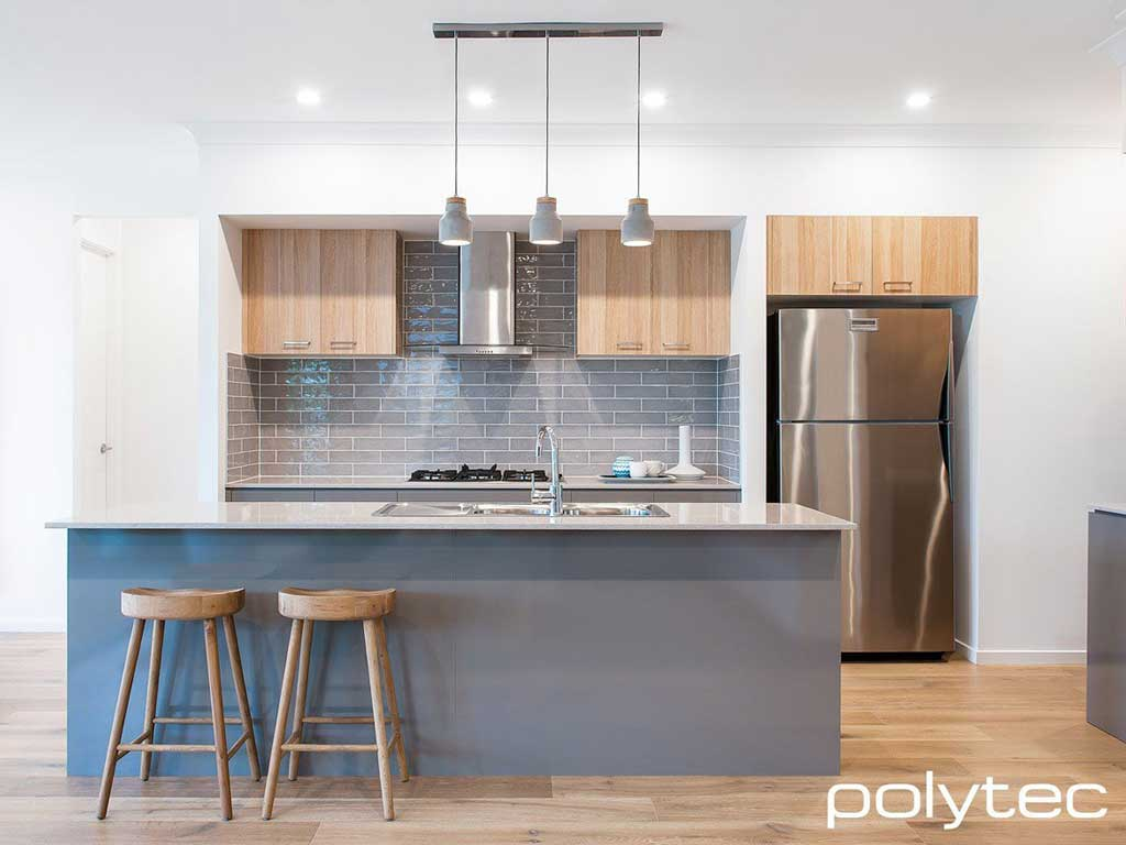 Polytec Ravine finishes available in our flat pack kitchens at The Blue Space