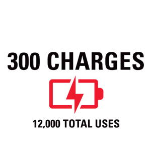 300 charges - 12,000 total uses