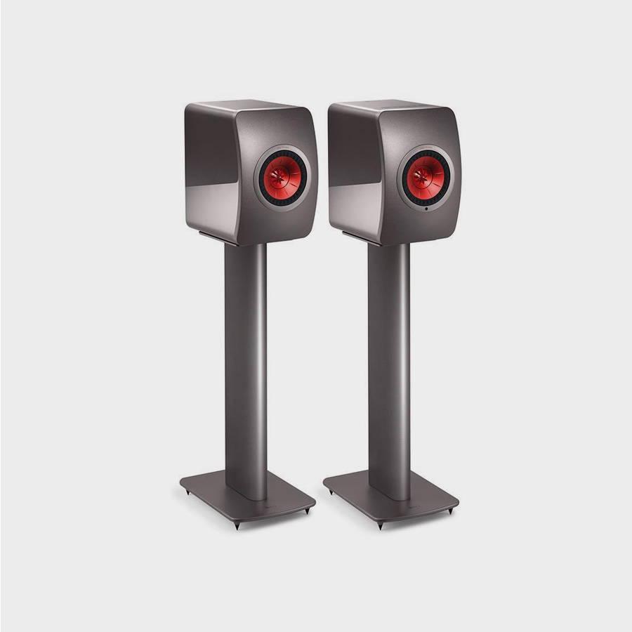 Grey KEF Speaker Stands