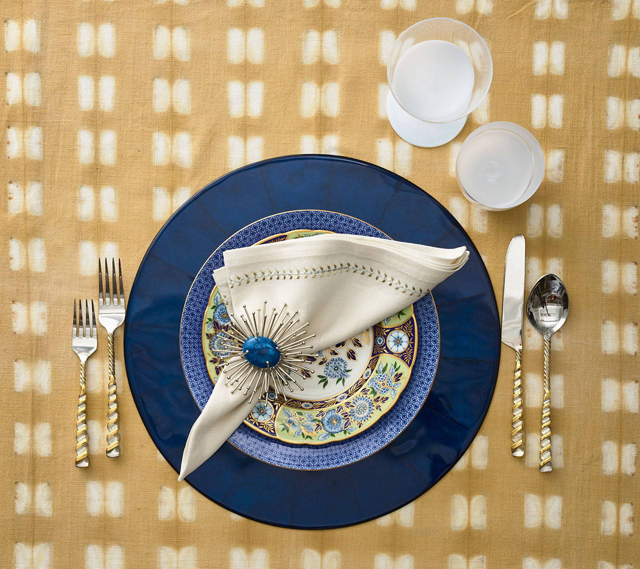 A coastal table setting
