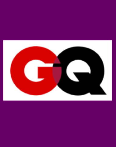 Purple rectangle icon with GQ logo in center