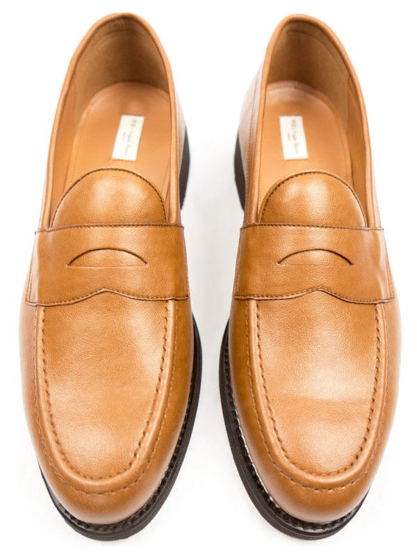 Black Collection Men's Tan Vegan Leather Loafers - Will's | Ecoture