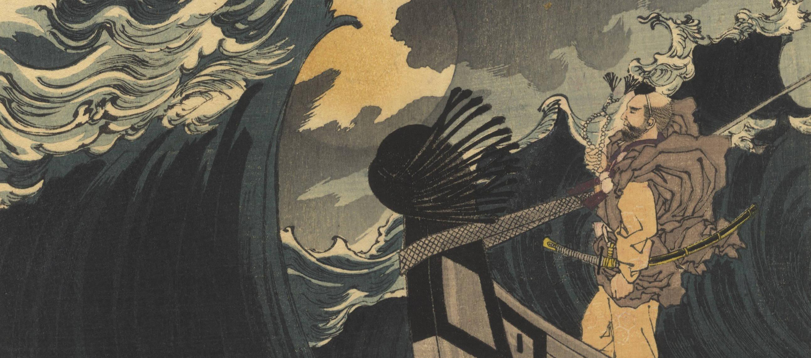 yoshitoshi tsukioka, benkei, one hundred aspects of the moon