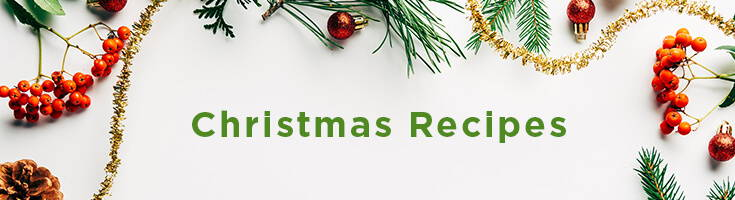 High Quality Organics Express Christmas Recipes Banner with Pine