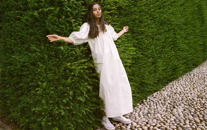 Meadows Crocus Dress in Off White from the SS20 collection