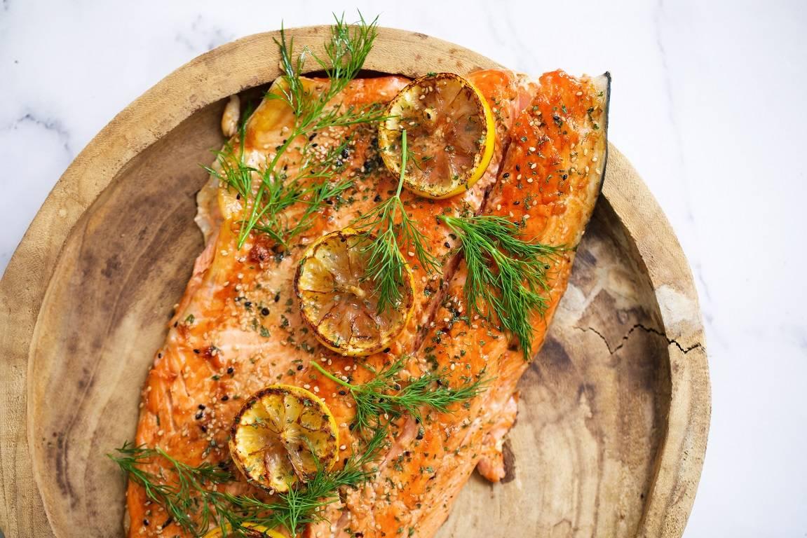 Baked Sesame Glazed Salmon