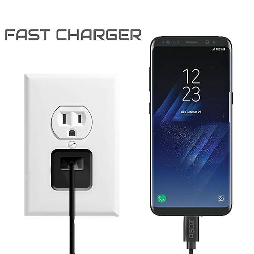 3 Port Type C Fast Wall Charger Adapter and Fast Charging Cable