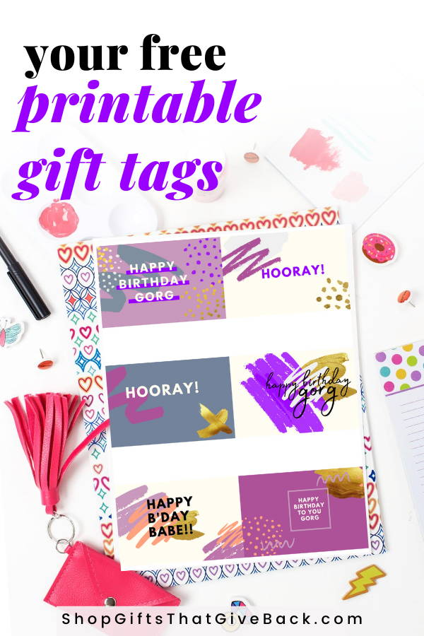 birthday gift tags for her