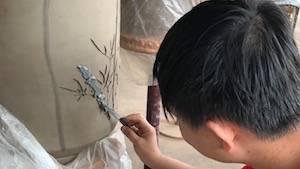 Creating Jian Shui Pottery - Apply Inlay