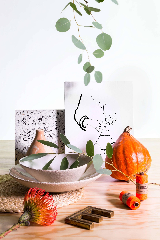 Sellerie Herbst-Produkte Setstying