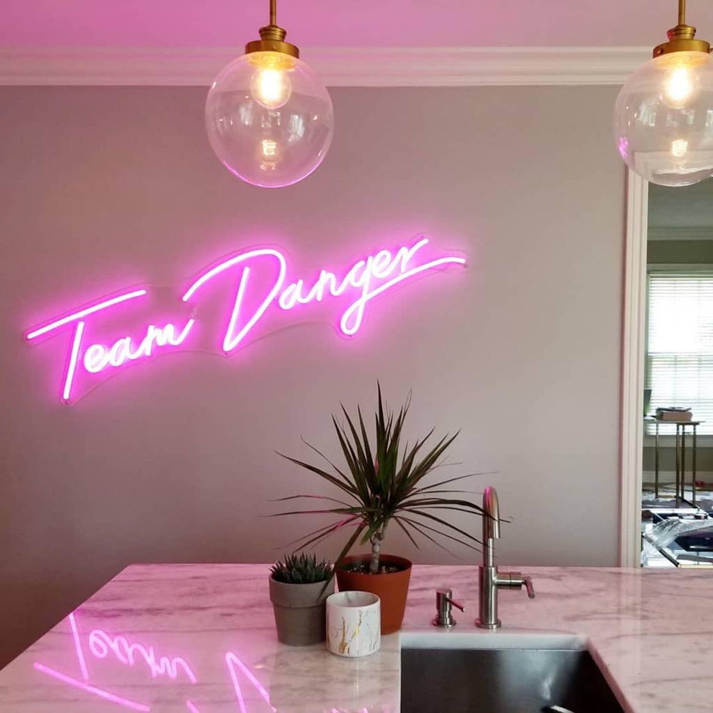 Brite Lite neon sign for home Team Danger