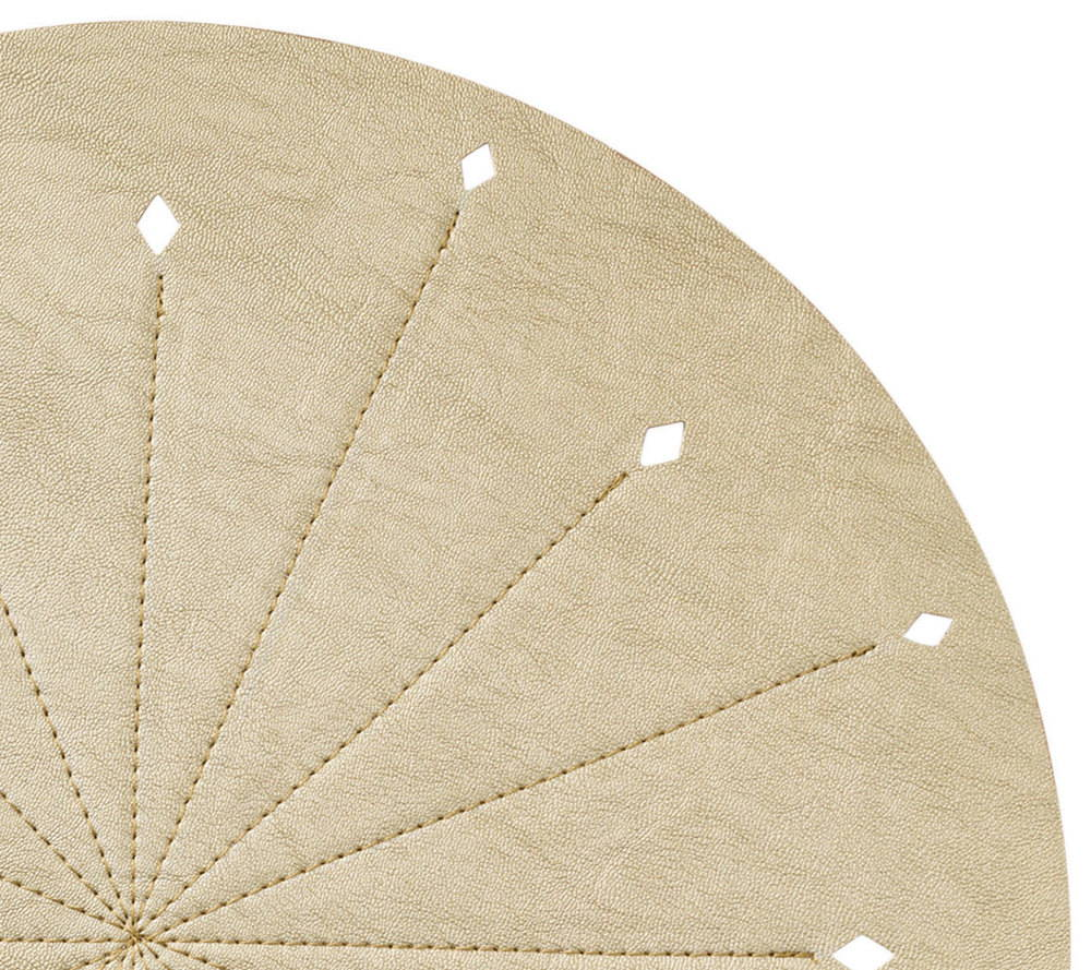 DART PLACEMAT IN GOLD & SILVER