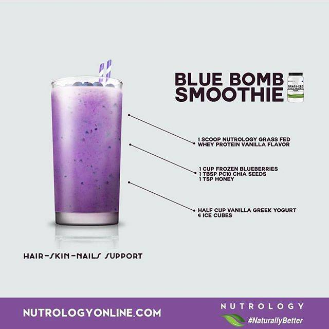 Nutrology Blue Bomb Smoothie Recipe
