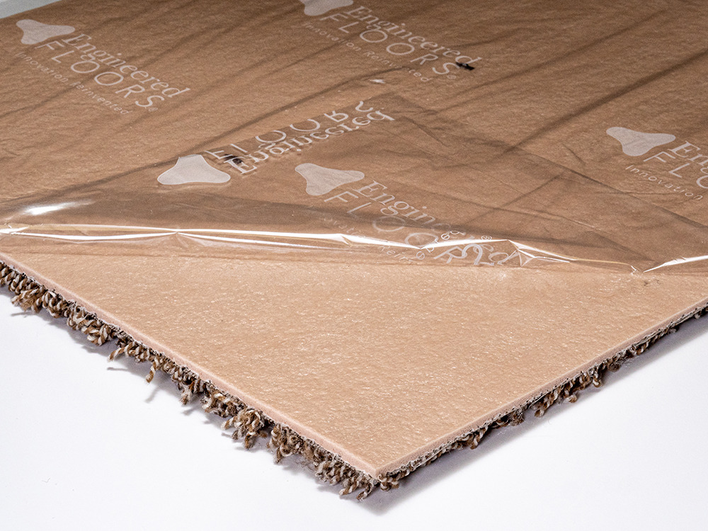 """Easy DIY Installation Peel and Stick Seamless Appearance Made in USA Sample, 314 Copper Mine Smart Squares Walk in The Park 18/"""" x 18/"""" Residential Soft Carpet Tiles"""
