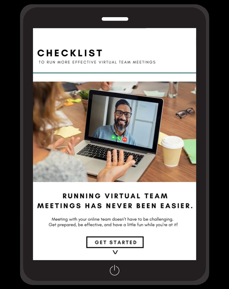 Free Checklist for Virtual Team Meetings