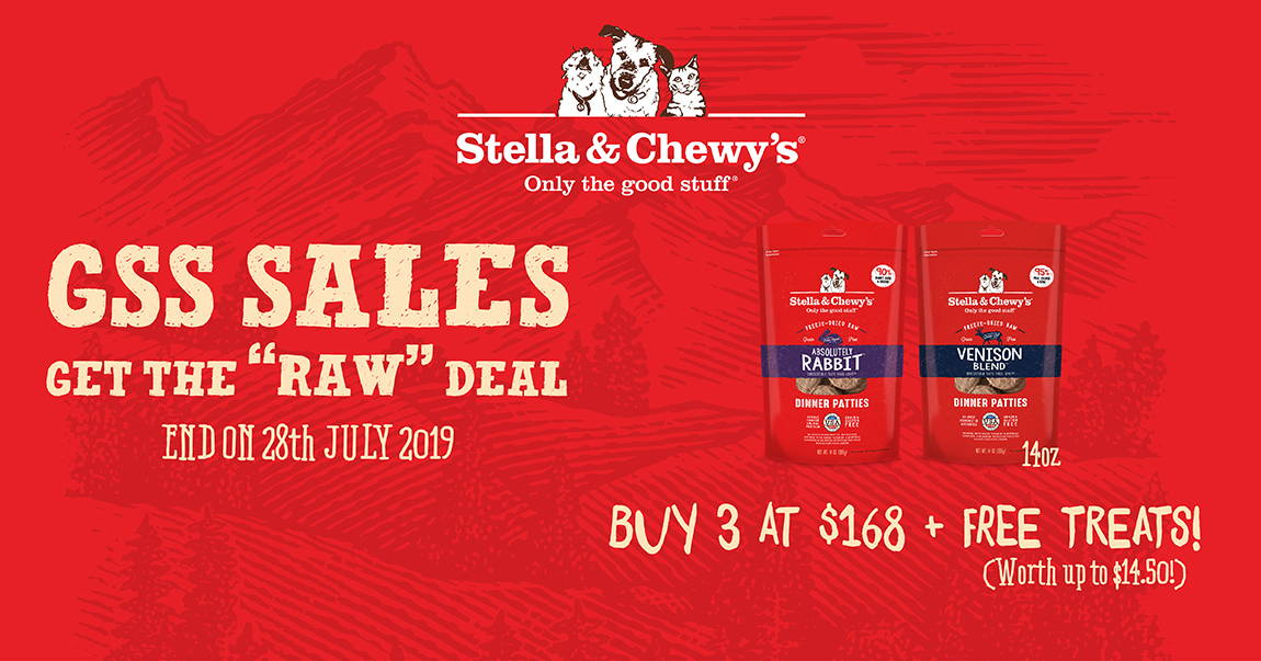 Stella and Chewy's promotion banner 2