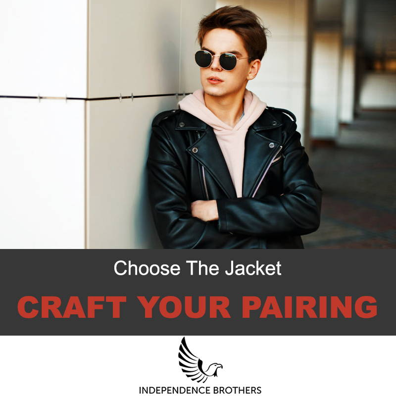 Styling a jacket with a hoodie