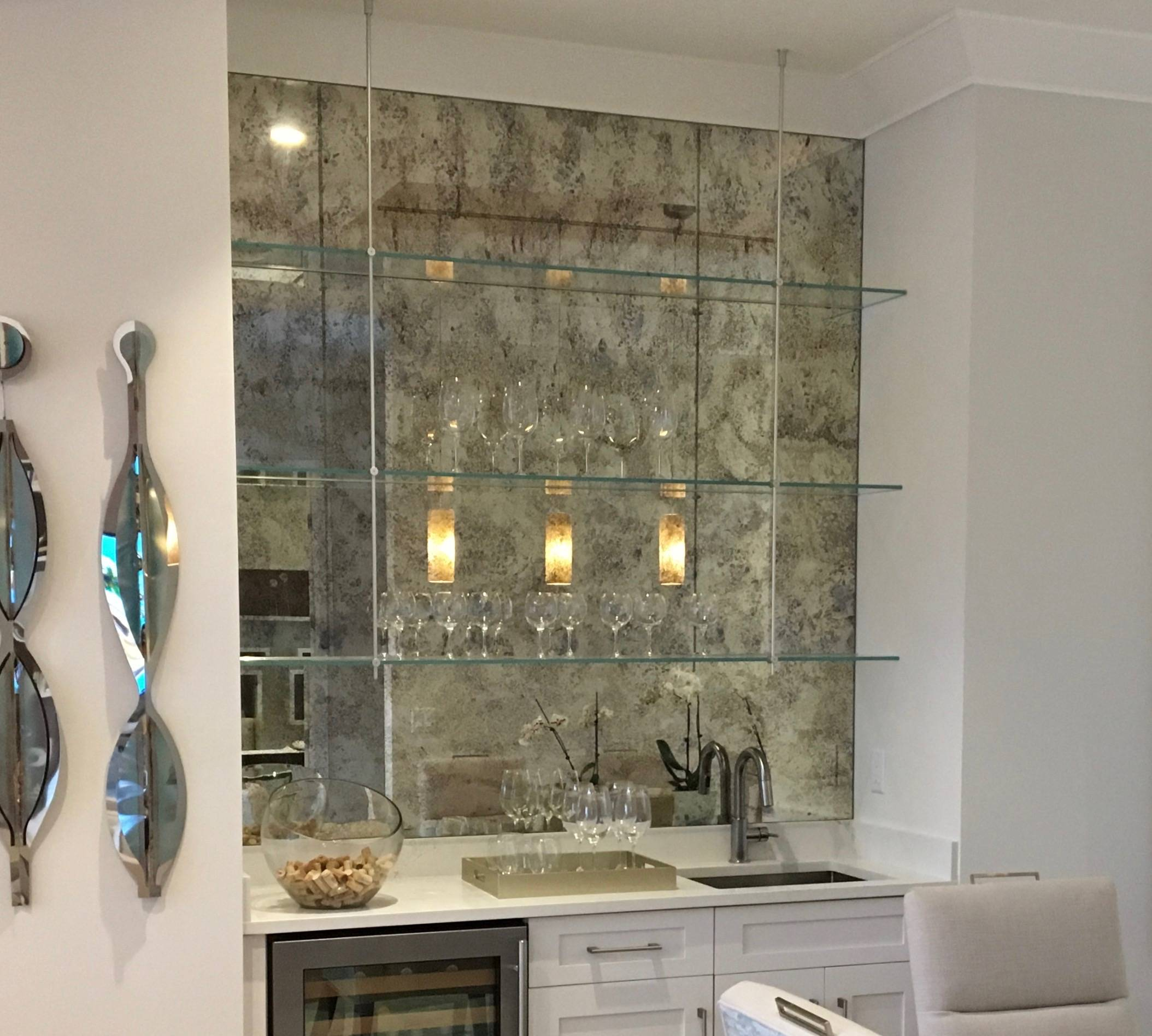 Antique mirrors as a wall accent