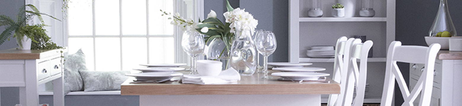 The Lavenham White & Oak Painted Dining Collection