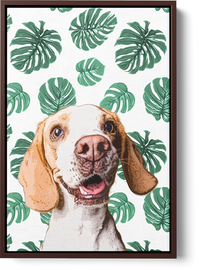 large dog pop art framed print