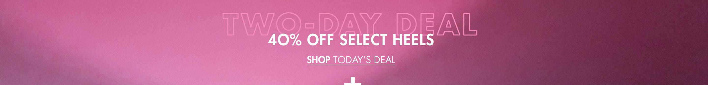40% Off Select Heels