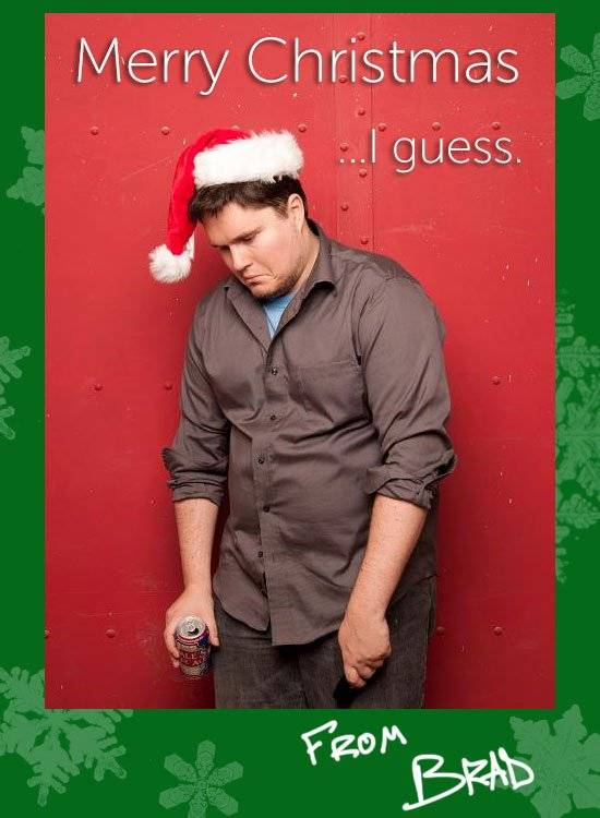 Lonely Christmas Card
