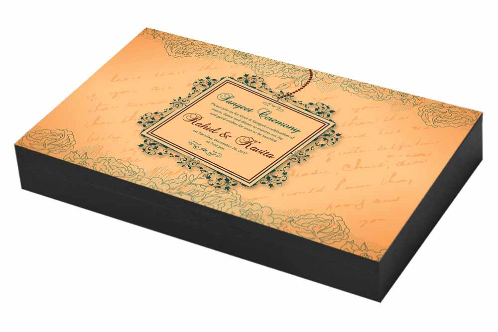 Vintage Sangeet ceremony Invitation