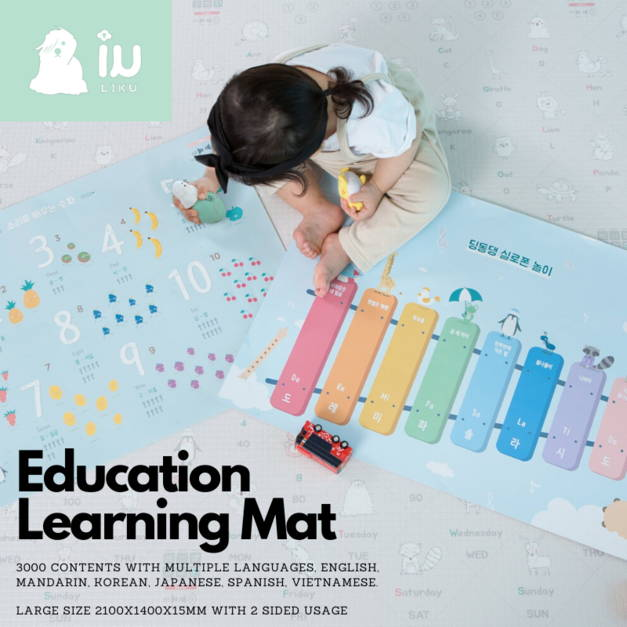 Learn from home educational bumper mat