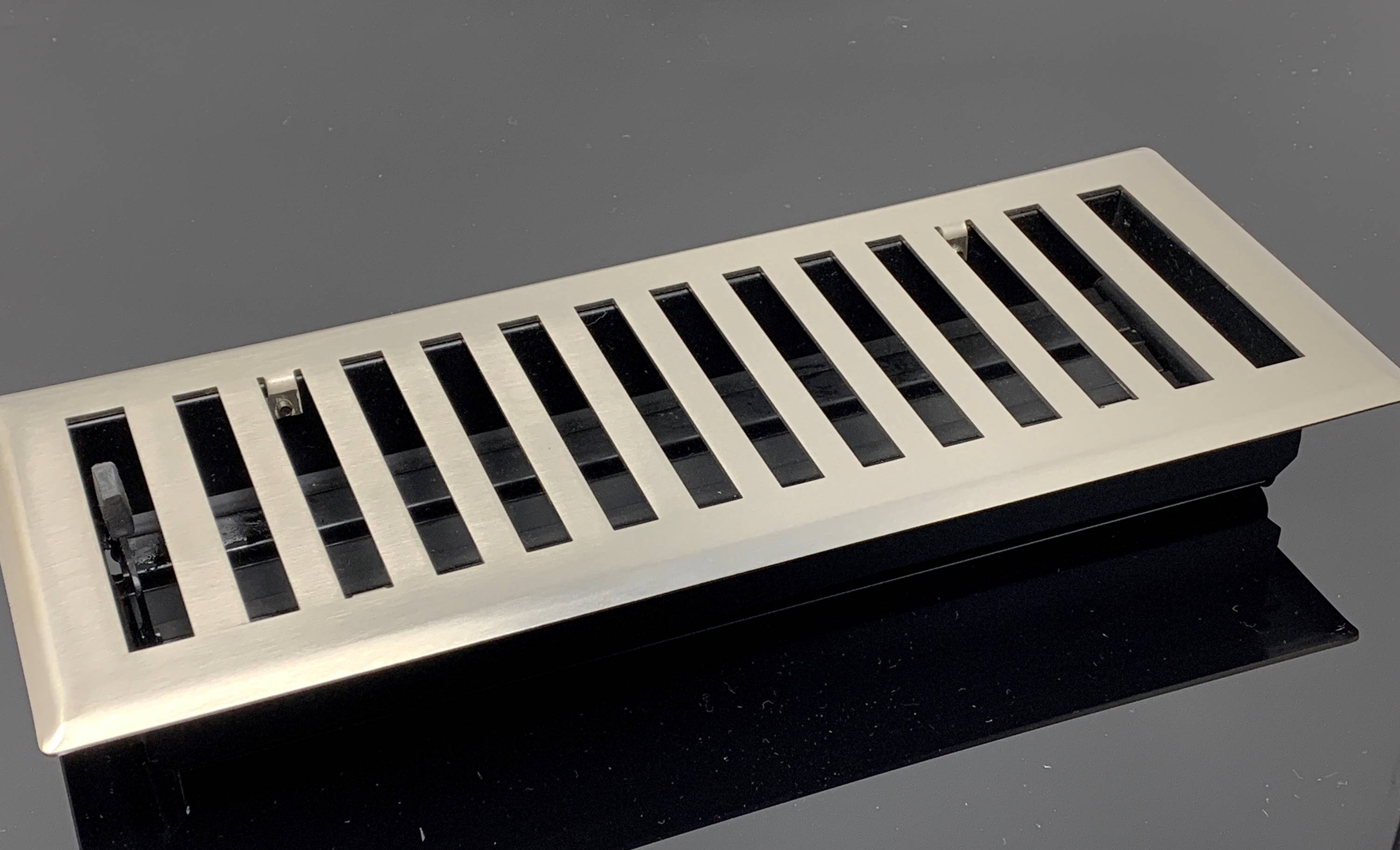 Brushed Nickel Modern Vent Cover
