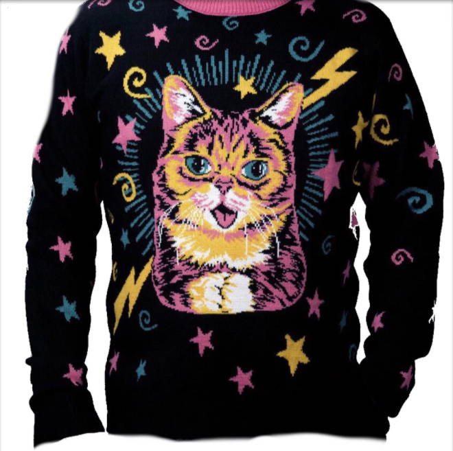 Lil Bub Black Christmas Sweater