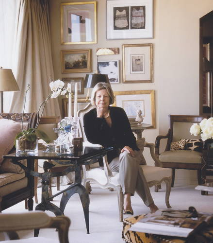 Gerrie Bremermann poses for a portrait in her living room for New Orleans Living Magazine.