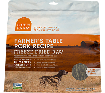 Farmer's Table Pork Freeze Dried Raw