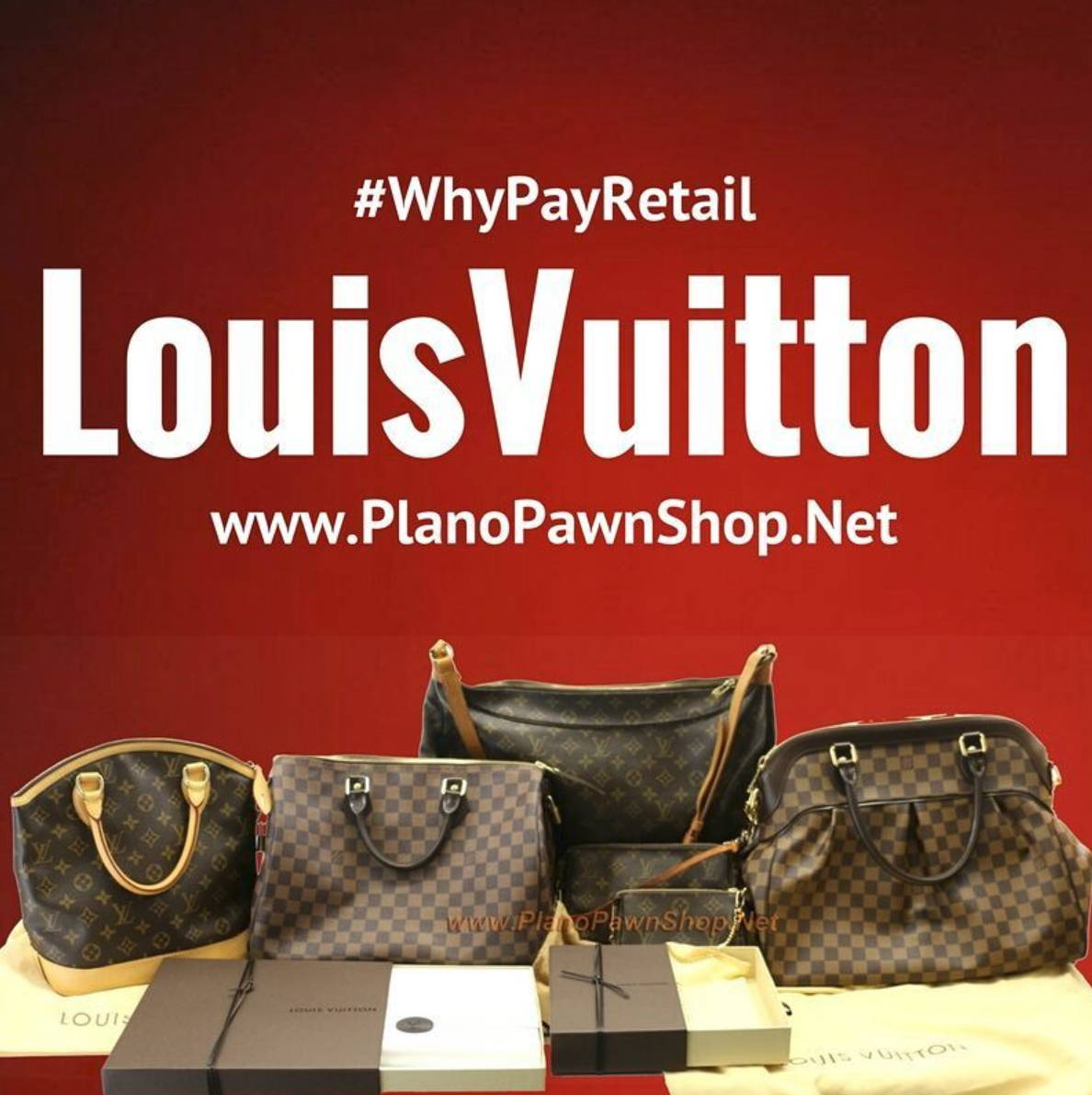 louis vuitton luxury at plano pawn shop prices