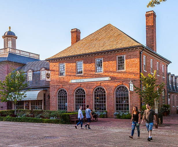 Exterior view of the new Brick & Vine Shop in Merchants Square